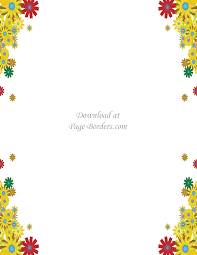 Floral Borders For Word Free Flower Border Template Personal Commercial Use
