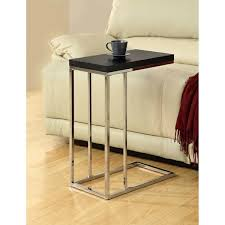 metal accent table. Clay Alder Home Pacific Compact Cappuccino/ Chrome Metal Accent Table