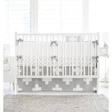 gray white swiss cross modern baby