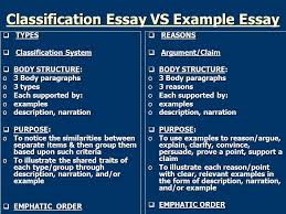 example essay ppt classification essay vs example essay