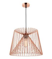 Wire Pendant Light Zurich Large Pendant Light Wire Shade Copper Online Lighting