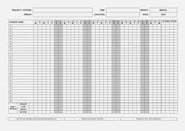 Student Tracking Chart Ageless Free Printable Attendance Chart Student Tracking
