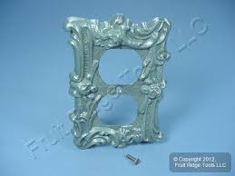 leviton antique silver metal receptacle wallplate duplex cover 89603 asp