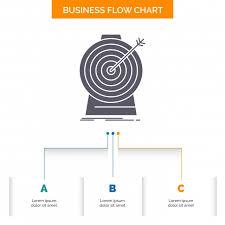 Aim Focus Goal Target Targeting Business Flow Chart Design W