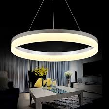 artistic lighting. Artistic Lamps And Lanterns LED Pendant Lamp Circle Acrylic Lights For Dining Room Bar Counter -in From \u0026 Lighting On U