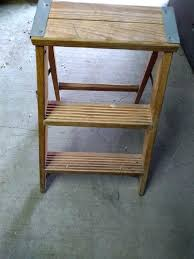 3 step wooden ladder biblio 3 step wooden ladder old wooden 3 step ladder