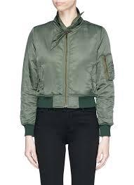 balenciaga for you women balenciaga scarf collar padded cropped er jacket select balenciaga jackets high