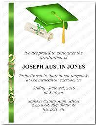 commencement invitations amazon com personalized graduation commencement invitation