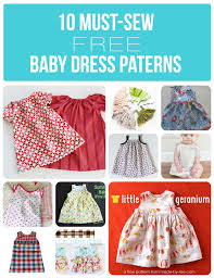 Baby Dress Patterns Magnificent 48 MustSew Free Baby Dress Patterns Baby Girl Pinterest Dress