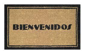 Decorating coir door mats pics : Amazon.com : Imports Decor Printed Coir Doormat, Bienvenidos, 18 ...