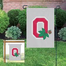 ohio state buckeyes o 15 x 10½ applique garden flag