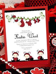 Ladybug Invitations Template Free Red Ladybug Little Lady Baby Shower Invitations Invitation