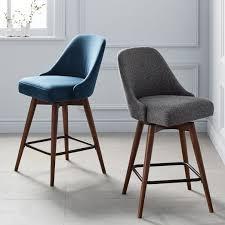 padded swivel bar stools. Brilliant Bar MidCentury Upholstered Swivel Bar  Counter Stools To Padded West Elm