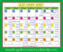 Family Meal Plans Whats Cooking August Meal Plan Life Of A Homeschool Mom