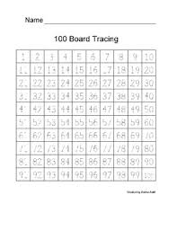 Trace Chart 100 Chart Tracing