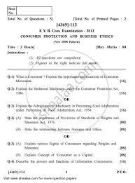 question paper consumer protection and business ethics  question paper consumer protection and business ethics 2012 2013 b com