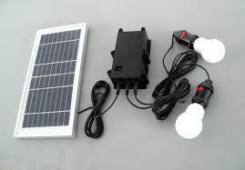 Solar Panel Power Generator LED Lighting System Kit USB Charger 2 Solar Powered Lighting Systems