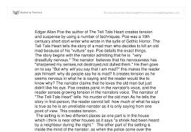 tension and suspense of the tell tale heart gcse english  document image preview