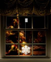 Polarlite Lba 50 017 Fenster Dekoration Schneeflocke Warm Weiß Led Transparent