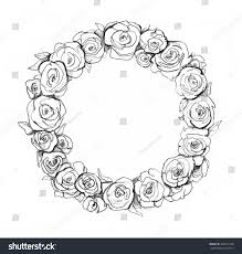 Small Picture Simple Circle Drawn RosesCirclePrintable Coloring Pages Free