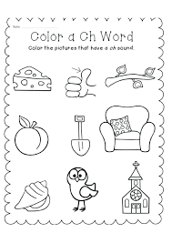 Phonics Worksheet Free Ch Sound Worksheets Jolly For Kindergarten ...