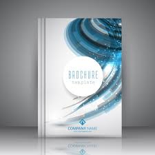 White Brochure White Brochure With Blue Wavy Shapes Vector Free Download