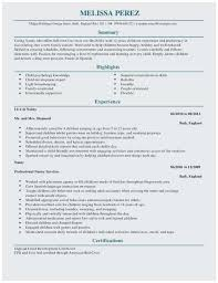 Day Care Resume Daycare Resume Best Daycare Resume Samples Popular Resume For Child