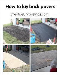 brick paver patio pavers