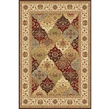 multi colored panel rug