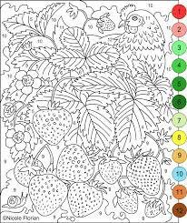 Small Picture Nicoles Free Coloring Pages COLOR BY NUMBERS STRAWBERRIES and