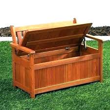 cedar storage bench outdoor wooden deck storage bench