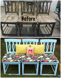 repurpose furniture ideas. DIY Bench From Old Chairs -- Ways To Repurpose Ideas Furniture