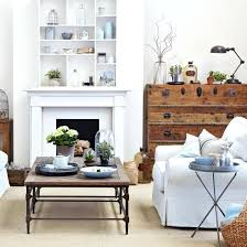 shelving furniture living room. Ideas For Fireplaces White Living Room With Mid Century Furniture And Fireplace Shelving Empty Images E