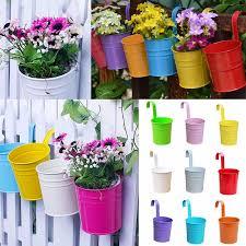 3 39 1x metal iron flower pots