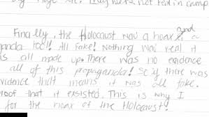 common core project convinced kids that holocaust didn t happen the rialto unified school district in southern california assigned eighth grade students an essay on whether the holocaust occurred or was ldquomerely a
