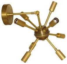 articulating wall sconce charming mid century wall sconce raw brass mid century modern sputnik starburst articulating articulating wall sconce