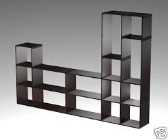 Shelves on Book Shelf Display Ez Cubes Room Divider Tv Stand White New And  Used