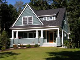 Adorable Small Craftsman Style Home Plans with Blue Color