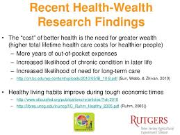 health and wealth research summary  health and personal finance research findings and theories 8