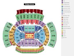 Pcc Seating Chart 76 Unfolded Philips Arena Detailed Seating Chart