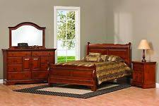 solid wood bedroom furniture sets. Amish Sleigh Raised Panel Bedroom Set Solid Wood Furniture King Queen Full Sets