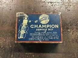 Vintage Champion Spark Plug Car Advertising Garage Service