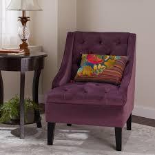 purple accent furniture. Abbyson Laguna Tufted Velvet Purple Accent Chair Furniture