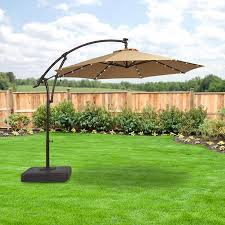 fascinating cantilever umbrella with solar lights tloishappening 11 10 ft