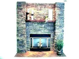 how stone veneer fireplace ideas to install stacked installing dry stack outdoor stone veneer fireplace ideas