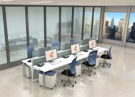 building office furniture. open plan office building furniture