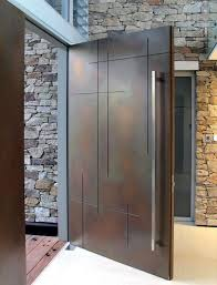 indian modern door designs. This Stylish Contour-finished Wooden Door Coupled With A Long Aluminium Handle Can Be The Perfect Foil For Modern Indian Home. Designs O