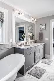 white and gray bathroom ideas. The Grey Cabinet Paint Color Is Benjamin Moore Kendall Charcoal. #greycabinet #paintcolor #. Bathrooms DesignsWhite BathroomsGuest White And Gray Bathroom Ideas E