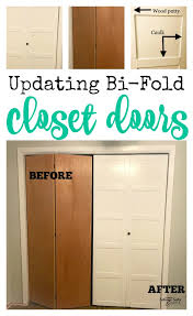 have old 70 s style closet doors with a little diy you can create a whole