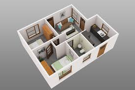 Small Picture 2 Bedroom House Plans Designs 3d Small House House Design Ideas